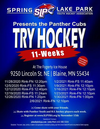 Sign-Up for SLP Youth Hockey Association Try-Hockey