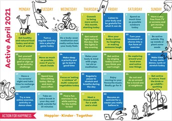 Active April Calendar