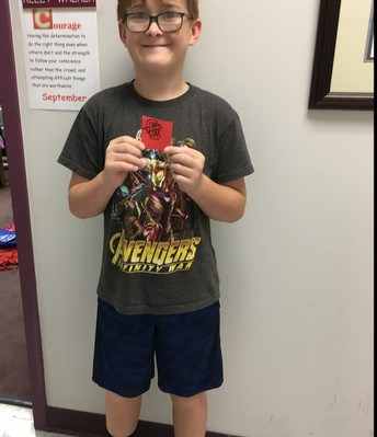 Trent earned a Red Raider prize!
