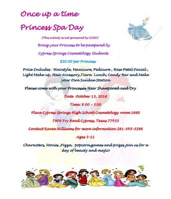 Día de Princesas en el Spa