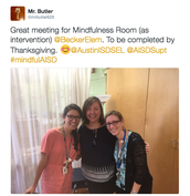 Mindfulness as Intervention Update--Becker Elementary