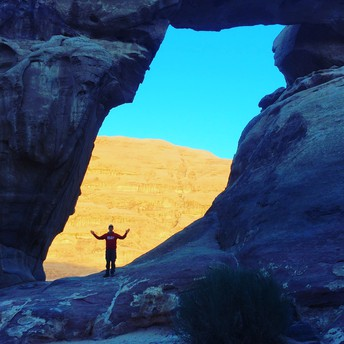 An Arch at Wadi Rum