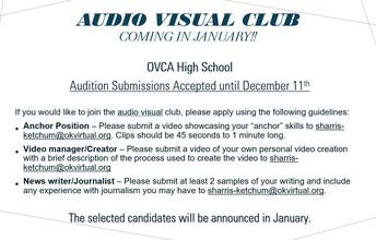 AV Club (applications currently closed)