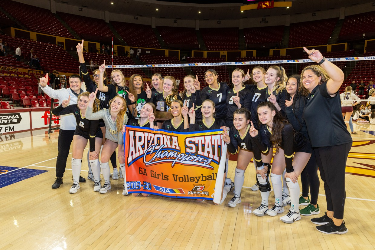Basha High Girls Volleyball 6A State Champs