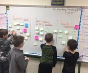 2nd Graders Creating Graphs