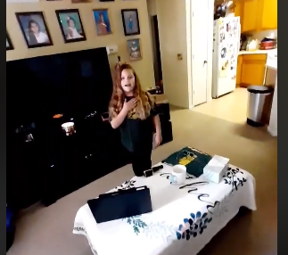 Allapattah Flats K8 shared a student video of morning announcements that included the pledge