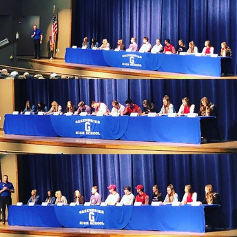 GHS Athletes Sign National Letters of Intent