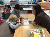 We love reading with Preschool!