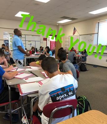 Mr. Belton - 6th Grade AP still loves to teach!