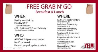 Free Grab N' Go Meals
