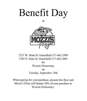 Eat Pizza & Support Weston!