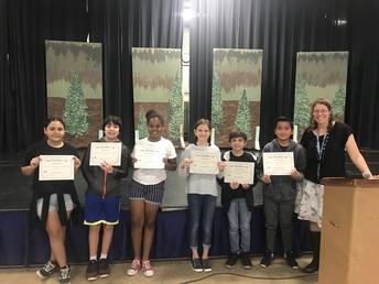 6th Grade Core Awards - Ms. Still