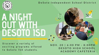 A Night Out With DeSoto ISD:  Pre-K to Post Grade Pathways Informational Event