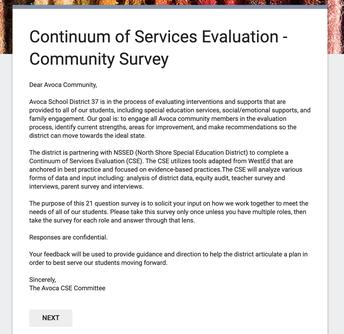 Request: Student Services Survey