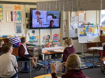 Remote learners joining their class