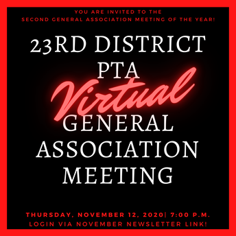 NOVEMBER GENERAL ASSOCIATION MEETING - WE'RE CALLING YOU TO ATTEND!