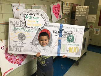 Kdg. 100th Day of School Projects were great!