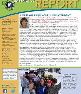 District 57 Fall/Winter Newsletter