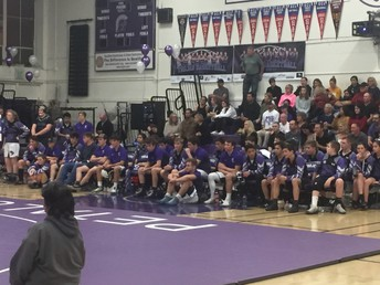 Our wrestling team looking on vs. Casa