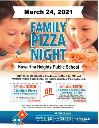 Domino's Family Pizza Night Fundraiser