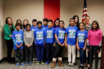 Frank C. Whiteley Students Lead Pledge of Allegiance