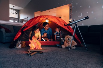 Have an indoor campout