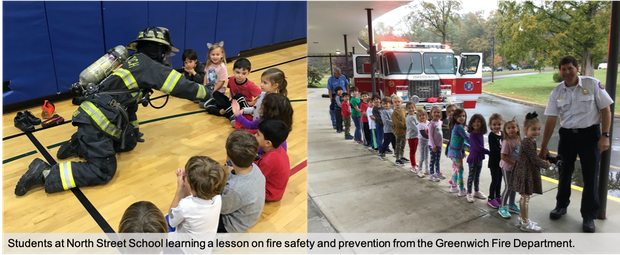 Firefighters teach North Street Students about fire prevention