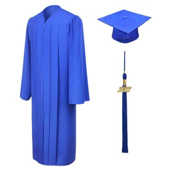 Caps and Gowns - cords included!  Be sure to try on the gown!
