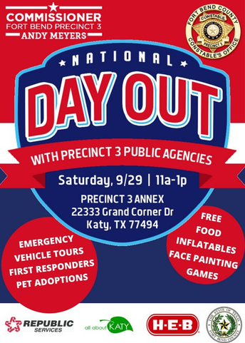 National Day Out - Saturday, September 29th