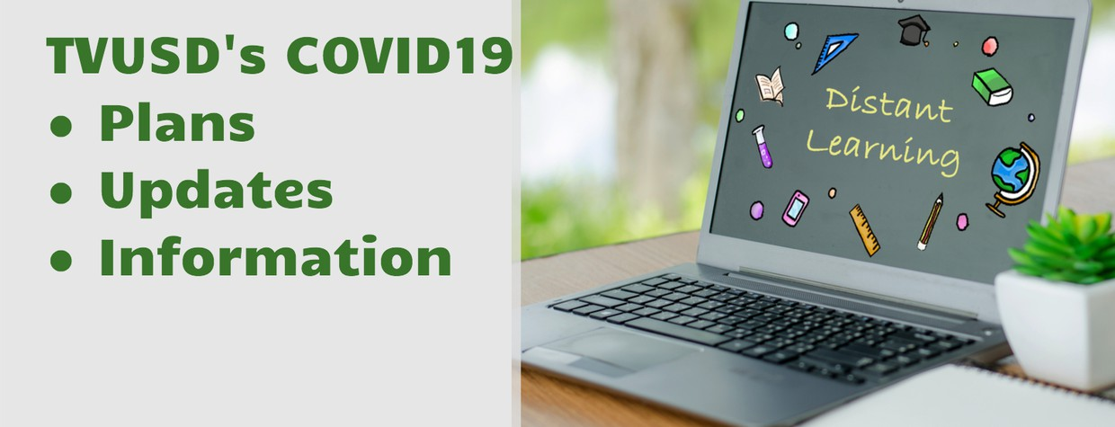 tvusds covid 19 plans and information with a computer laptop