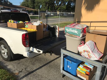 Supplies for Hurricane Victims