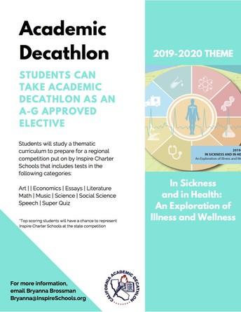 Academic Decathlon joining ChoicePlus Academy this Fall!