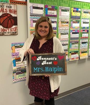 Bennett's Best Recipient      Mrs. Halpin