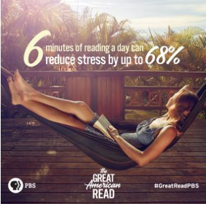 6 minutes of reading a day can reduce stress by up to 68%