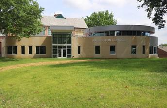 New Washington School Entryway