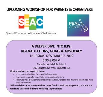 SEAC IEP Workshops