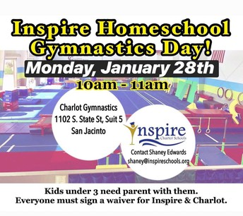 Inspire Homeschool Gymnastics Day at Charlot Gymnastics