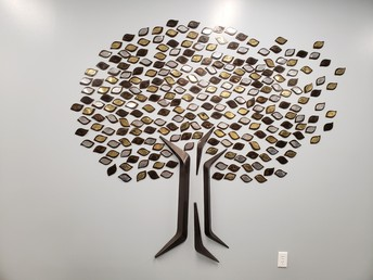 Metal Tree Artwork Installed in Lobby of Secondary Campus