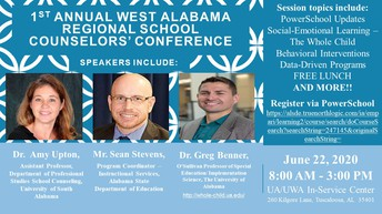 West Alabama Regional School Counselors' Conference--Open for Registration!