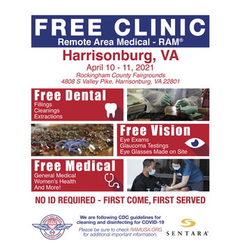 Picture of free clinic flyer