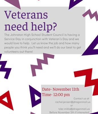 JHS Veteran's Day Service Activity