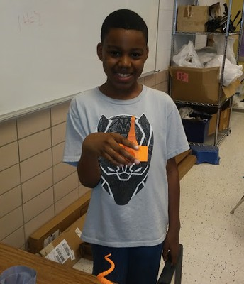 Desmond shows his mastery of 3D Printing