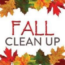 PCC Fall Cleanup Day on October 24th from 9 to 3.