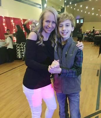 Angela and Zackary dancing the night away