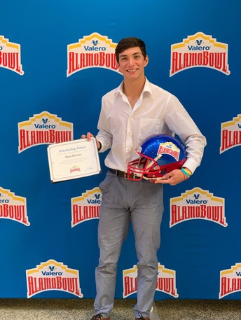 senior ryan trevino received a scholarship from the valero alamo bowl