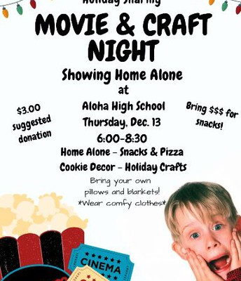 Home Alone Movie and Craft Night