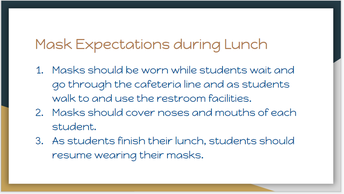 Mask Expectations During Lunch