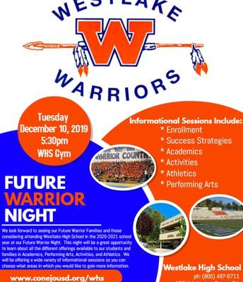 Future Warrior Night - December 10th