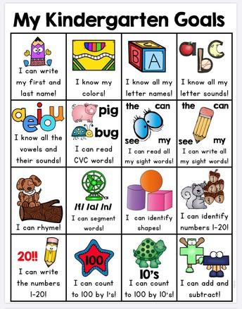 My Kindergarten Goals