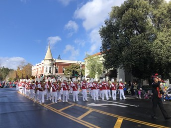 Marching to Victory in the Los Gatos Parade